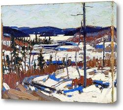 Картина Ранняя весна, Каноэ Озеро, Весна 1917