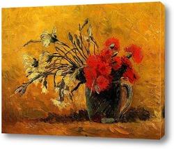 Натюрморт с вазой роз Мальвы