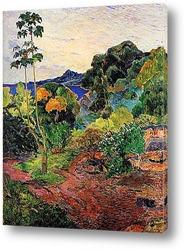 Картина Тропические заросли. 1887