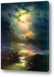 Постер Буря на Северном море,1865
