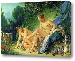 Картина Диана отдыхает после ванны, 1742