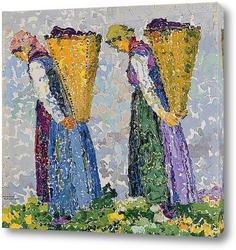 Картина Две молодые крестьяне с корзинами
