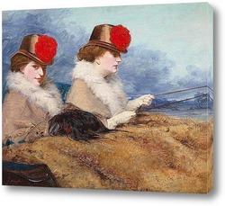 Картина Две дамы в карете
