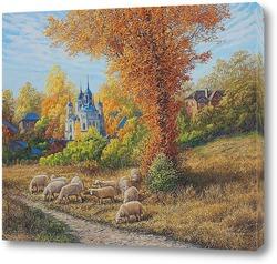 Постер Сельский пейзаж