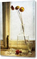 Постер графин и цветы