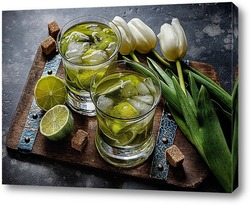 Постер Коктейли с лаймом и тюльпанами