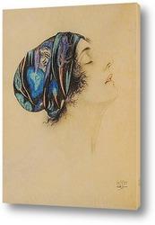 Картина Молодая женщина в профиль, в тюрбане
