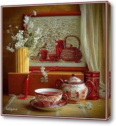Постер Натюрморт с чайным сервизом