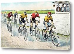 Картина Велосипедисты, финиш