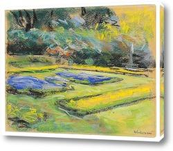 Постер Цветочная терраса в Ванзее-сад