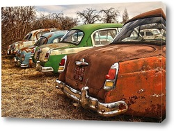 Автомобиль - картина в художественном стиле ретро