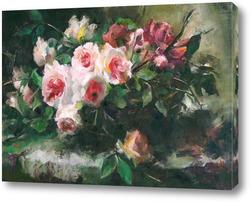 Картина розы 5 от F. Mortelmans