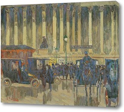 Картина Площади Бурс, Париж