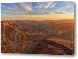 Картина Fish River каньон в Намибии