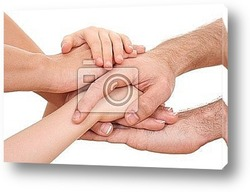 symbol OK - lots of hands isolated on white