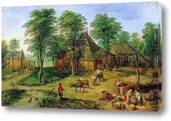 Картина Крестьянское подворье