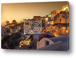 Постер Остров Санторини. Греция