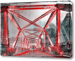 Постер Стальная конструкция моста