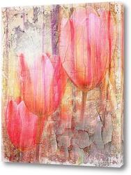 Тюльпаны и лес