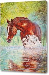 Картина Рыжий конь