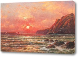 Картина Закат на море