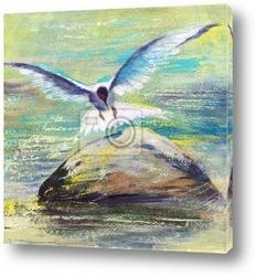Постер Flying seagull