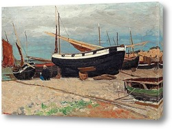 Постер Прибрежная сцена из севера Франции