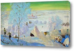 Постер Лыжники