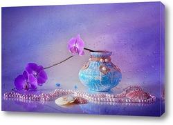 С орхидеей и ракушками