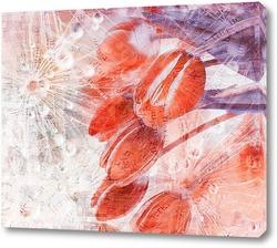 Постер Тюльпаны в росе