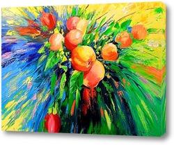 Картина Ветка спелых яблок