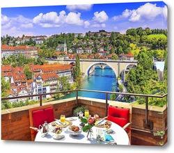 Постер Вид на Швейцарию