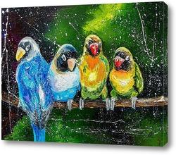 Картина Компания попугаев.