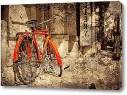 Постер Красный велосипед