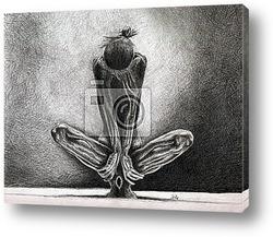 Рисунок черным карандашом