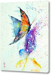 Картина Бабочка на цветке
