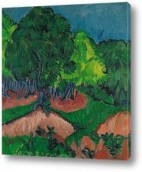 Картина Пейзаж с каштаном