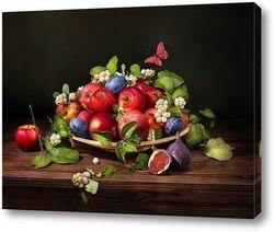 Постер Натюрморт с яблоками