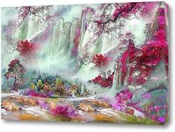 Пейзаж с водопадом