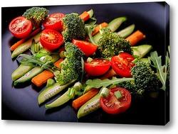 Постер Салат из свежих овощей ( горизонтальный)