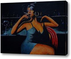 Постер Девушка в баре