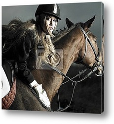 Постер Elegant rider