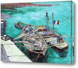 Картина Закрепленные корабли. 1888