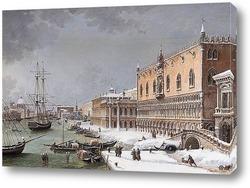 Постер Венеция под снегом