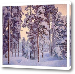 Снежный зимний пейзаж.