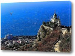 Постер Крым. Форос.Церковь в горах