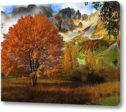 Картина разноцветные деревья