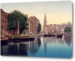 Постер Амстердам, Мунтплейн с Мунтторен