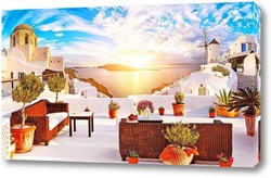 Постер Морской пейзаж с терассы