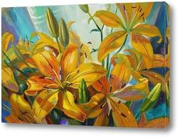 Картина Солнечные лилии